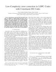 Low-Complexity error correction in LDPC Codes with Constituent ...
