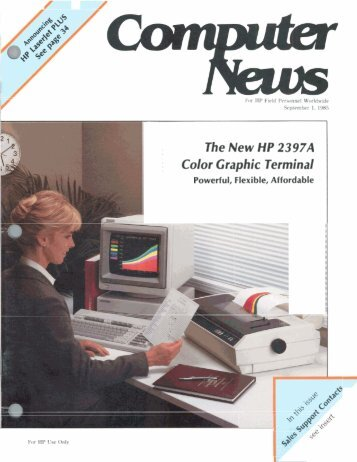 The New HP 2397A Color Graphic Terminal - HP Computer Museum