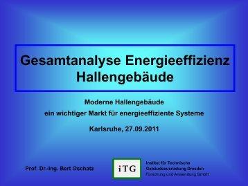 Gesamtanalyse Energieeffizienz Hallengebäude - Systemvergleich ...