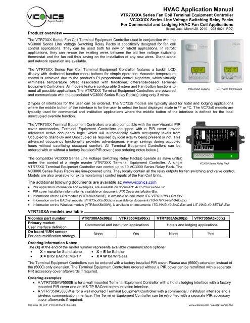 [SCHEMATICS_4US]  HVAC Application Manual - Viconics | Viconics Bacnet Wiring Diagram |  | Yumpu