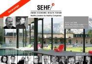 Teaser und Anmeldeinformationen SEHF
