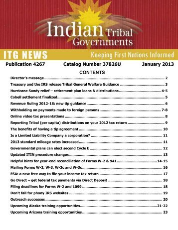 Publication 4267 (Rev. 1-2013) - Internal Revenue Service