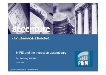MiFID and the Impact on Luxembourg - PRiM