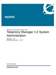 Telephony Manager 3.2 System Administration - BT Business