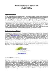 Bericht des Präsidenten Prof. Karl Mann (2006-2010 - DG-Sucht