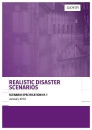 RDS Scenario Specification 2012 v1.1 - Lloyd's