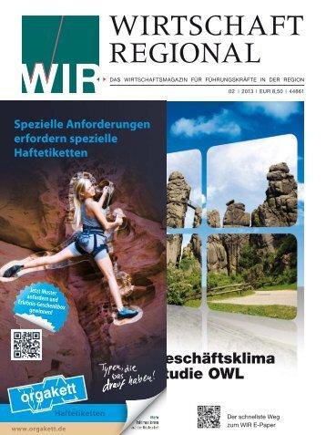 WIR_2013_02_mit binder.indd - Wirtschaft Regional epaper - WiR ...
