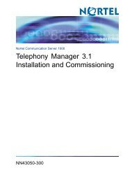 Telephony Manager 3.1 Installation and Commissioning - BT Business