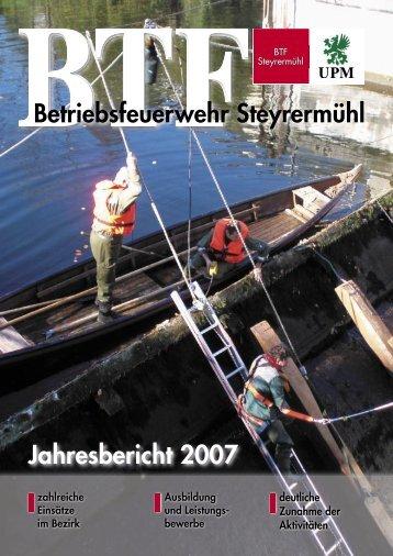 Jahresbericht 2007 Betriebsfeuerwehr Steyrermühl - BTF Steyrermühl