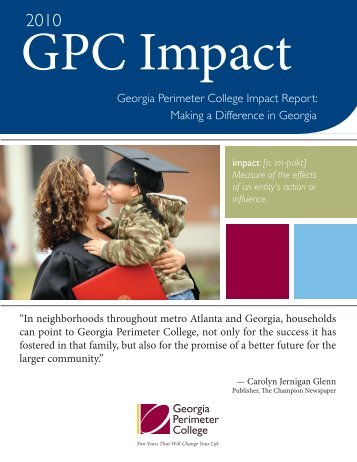 Georgia Perimeter College Impact Report: Making a Difference in ...