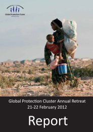 GPC Retreat Report 2012 - Global Protection Cluster