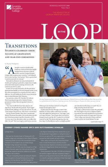 Transitions - GPC Home - Georgia Perimeter College