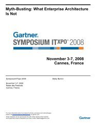 Myth-Busting: What Enterprise Architecture Is Not November 3-7 ...