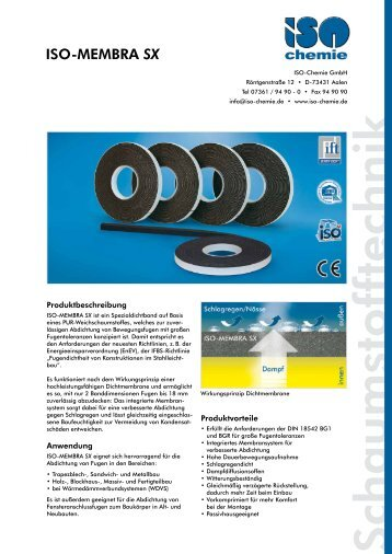 ISO-MEMBRA SX - ISO Chemie GmbH