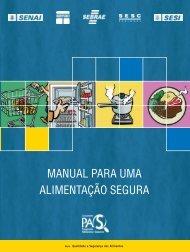 MANUAL PARA UMA ALIMENTAÇÃO SEGURA - Pro-SST - Sesi