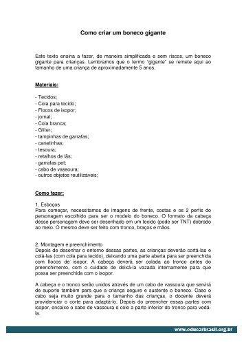Como criar um boneco gigante.pdf - EducarBrasil