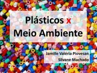 Plásticos x Meio Ambiente