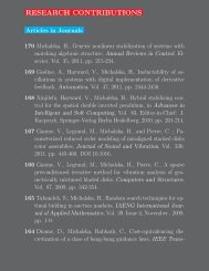 Publication List - CIM - McGill University