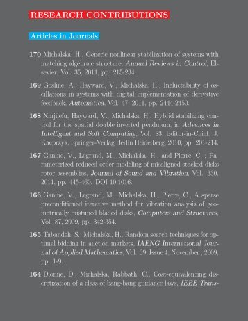 Publication List - CIM - McGill University