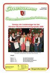 Ausgabe 5 - Oktober 2009 - Gemeinde Gnesau