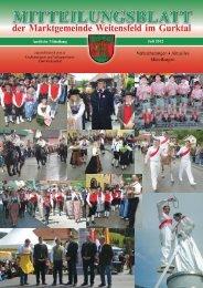 Mitteilungsblatt Juli 2012 - Marktgemeinde Weitensfeld