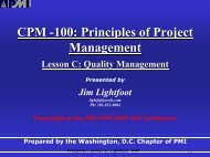 CPM -100: Principles Of Project Management - EVM Library