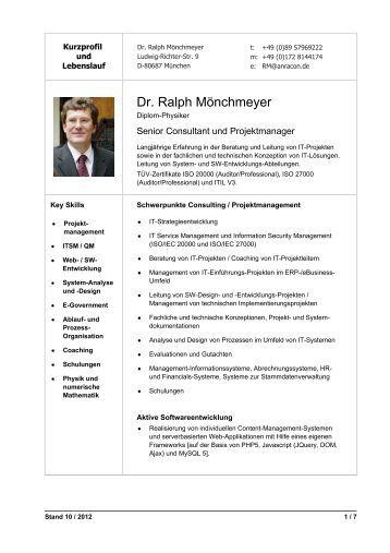 cv und kurzprofil von dr ralph mnchmeyer anracon