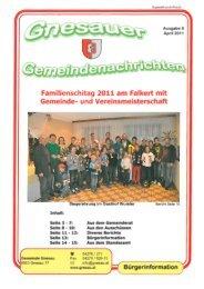 Ausgabe 8 - April 2011 - Gemeinde Gnesau