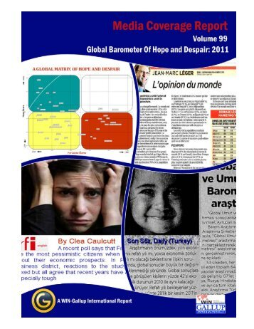 Global Barometer of Hope and Despair: 2011 - Gallup Pakistan