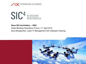 Dave Brupbacher - SIX Interbank Clearing