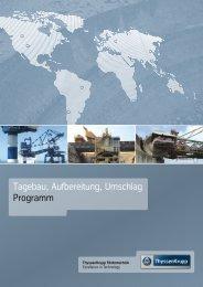Tagebau, Aufbereitung, Umschlag Programm - ThyssenKrupp ...