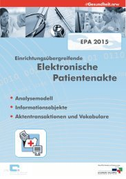 Arbeitspapier des Projektes EPA 2015 - eGesundheit.NRW ...