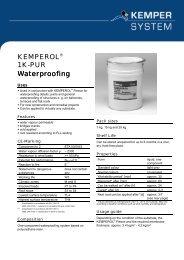 KEMPEROL® 1K-PUR Waterproofing - KEMPER SYSTEM