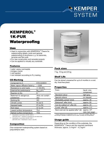 kemperol 2k pur assembly for waterproofing kemper system. Black Bedroom Furniture Sets. Home Design Ideas