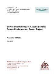 Environmental Impact Assessment for Sohar-II Independent Power ...