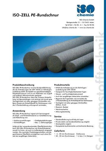 ISO-ZELL PE-Rundschnur - ISO Chemie GmbH