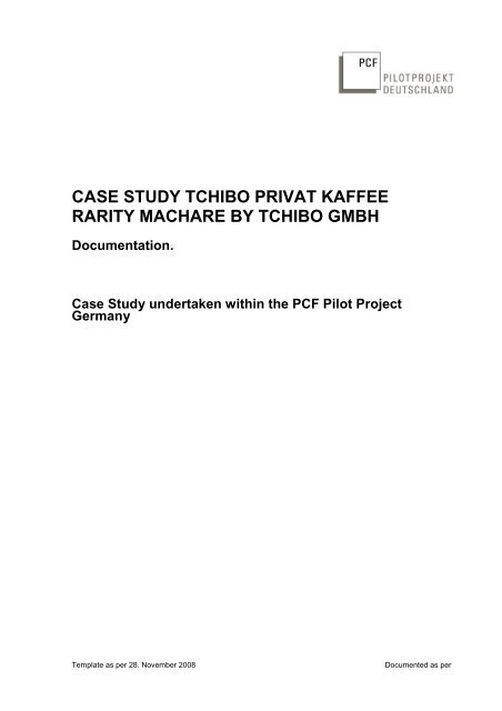 "376246de95 case study ""Tchibo Privat Kaffee Rarity Machare"" - Product Carbon ..."