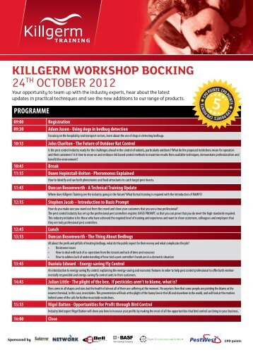 Killgerm worKshop BocKing 24th OctOber 2012