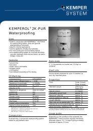 KEMPEROL® 2K-PUR Waterproofing - KEMPER SYSTEM
