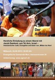 Der Auftrag - Evangelische Gemeinde Muri