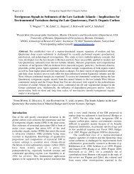 Terrigenous Signals in Sediments of the Low Latitude Atlantic - Marum