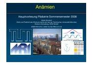 Anämien - Kinderklinik und Poliklinik der TU Muenchen - TUM