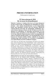 presse-information - Kinderklinik und Poliklinik der TU Muenchen