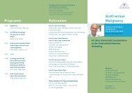 Einladung/Programm - Kinderklinik und Poliklinik der TU Muenchen