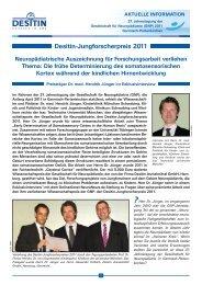 Desitin-Jungforscherpreis 2011 - Kinderklinik und Poliklinik der TU ...