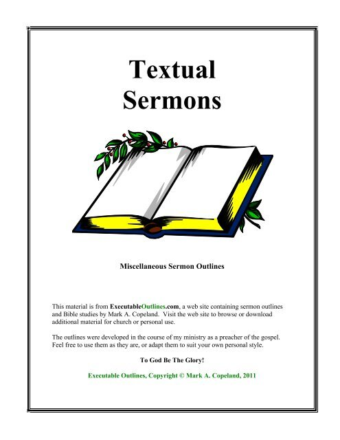 Textual Sermons - Executable Outlines