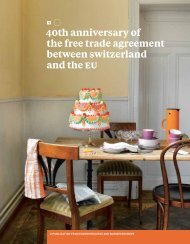 40th anniversary of the free trade agreement ... - Economiesuisse