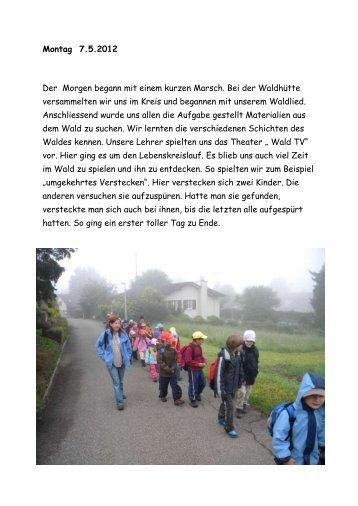 Waldwoche der Schule Eggenwil