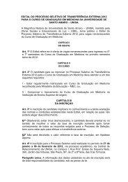 edital do processo seletivo de transferência externa 2012 - Unisa