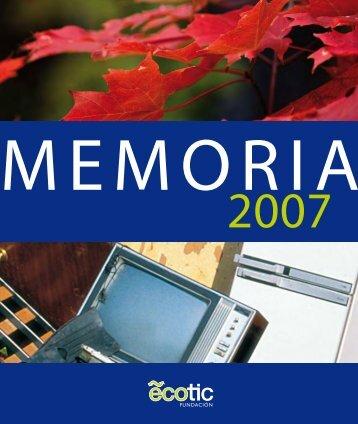 Memoria de Actividades 2007 - Ecotic